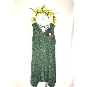 Ava & Viv Green Sundress Size 2X